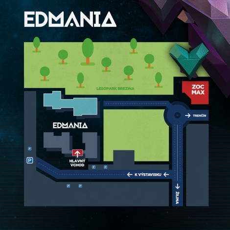 Mapa prijazdu