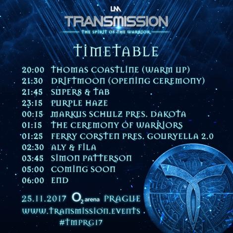 Transmission Timetable